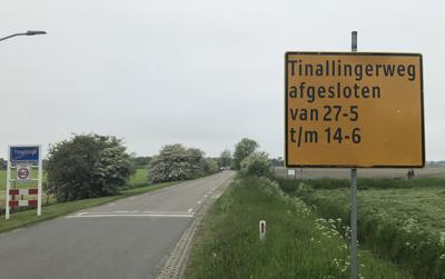 Tinallingerweg afgesloten